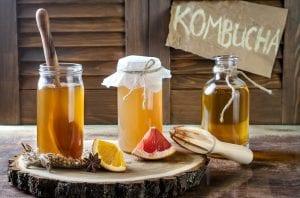 3 bottle of kombucha