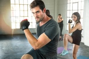fit man who takes Progentra intense with workout