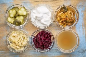 food high in probiotics yogurt miso sauerkraut