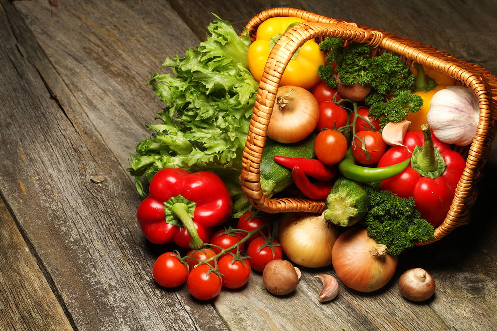 a basket of vegetable
