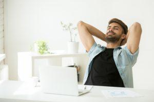 relaxing break in between work