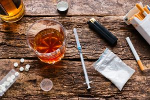 illicit drugs and alcohol